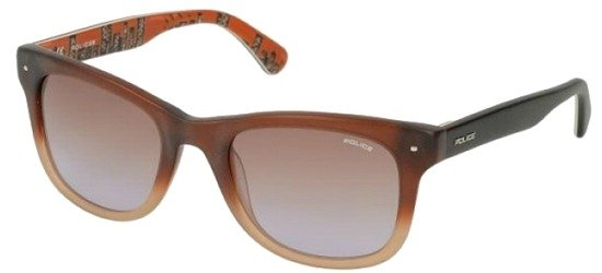 POLICE S1861 W41M Shiny Crystal Brown/ Brown Gradient Lens
