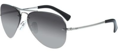 RAY-BAN RB3449 003/8G Silver/Grey Shaded