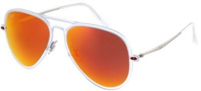 RAY-BAN RB4211 646/6Q Transparent Silver/ Red Mirror Lens
