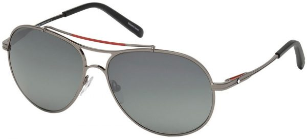 MONT BLANC MB703S 08D Anthracite(Silver)/Grey Polarized